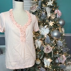 Talbots blouse light peach color